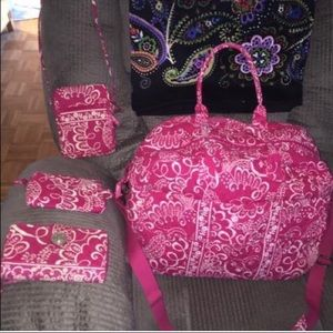 Vera Bradley grand traveler set great gift set